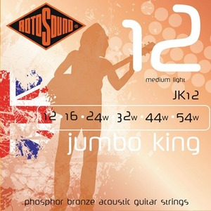 ★딴따라몰★정말빠른배송★ Rotosound Jumbo King Phosphor Bronze Acoustic Guitar Strings Medium Light 로토사운드 어쿠스트링 JK12 JK-12